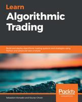Learn Algorithmic Trading PDF