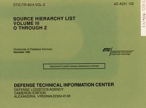 Source Hierarchy List  O through Z PDF