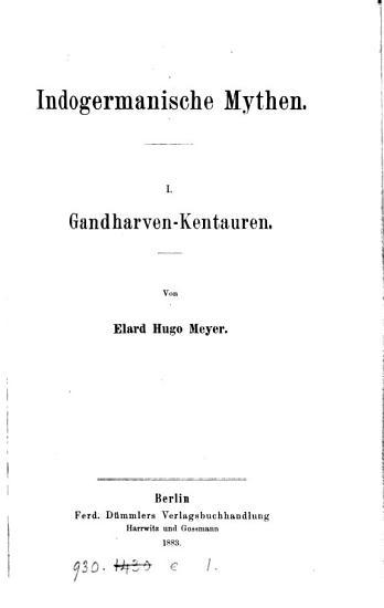 Indogermanische Mythen PDF