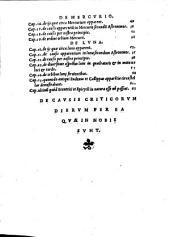 Hieronymi Fracastorii Homocentrica ; Eiusdem De causis criticorum dierum per ea quae in nobis sunt