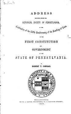 Address Delivered Before the Historical Society of Pennsylvania PDF