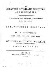 Symbolarum ad historiam philosophiae particula prima (secunda tertia, octava).