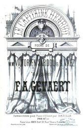 Le Capitaine Henriot. Opéra Comique en trois actes. Poëme de V. Sardou et G. Vaëz. Partition réduite pour Piano et Chant par Bazille