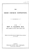 The Irish Church Convention     Reprinted     from the    Christian Advocate and Review    for June  1870 PDF