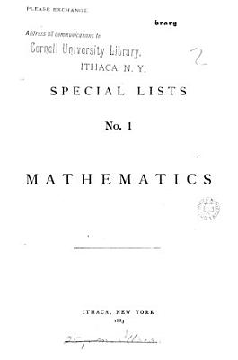 Special lists  Mathematics