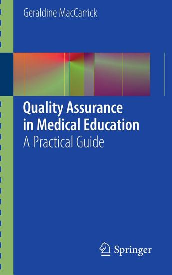 Quality Assurance in Medical Education PDF