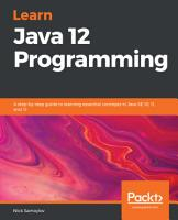 Learn Java 12 Programming PDF
