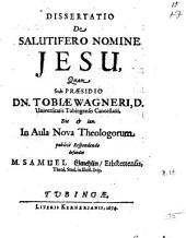 Dissertatio De Salutifero Nomine Jesu