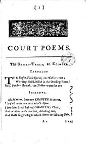 Court poems. By mr. Pope, &c