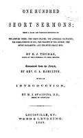 One Hundred Short Sermons PDF