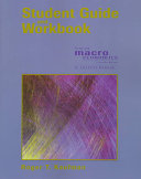 Student Guide and Workbook for Use with Macroeconomics  Fourth Edition  N  Gregory Mankiw