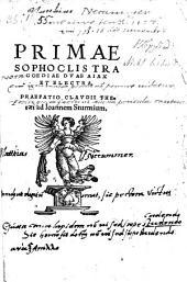 Primae tragoediae duae, Ajax et Electra. Praefatio Claudii Theraei ad Joannem Sturmium