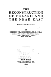 The Reconstruction of Poland and the Near East: Problems of Peace