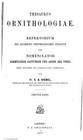 Thesaurus Ornithologiae: bd. Pachycephala-Zosterops