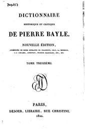 Dictionnaire historique et critique: Volume13