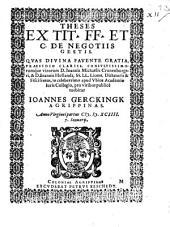Theses ex tit. FF. et C. de negotiis gestis