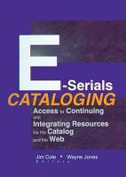 E Serials Cataloging PDF