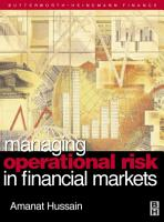 Managing Operational Risk in Financial Markets PDF
