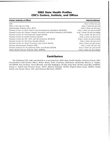 State Health Profiles  2003 PDF