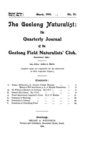Geelong Naturalist PDF