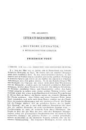 Mittelhochdeutsche Literatur