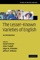 The Lesser Known Varieties of English PDF