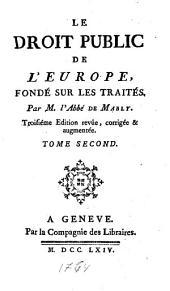 Le droit public de l'Europe: fondé sur les traités