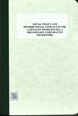 Social Policy and Distributional Conflict in the Capitalist Democracies PDF