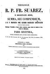 Theologiæ Fr. Suarez, summa, seu compendium: Volume 2