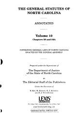 The General Statutes of North Carolina PDF