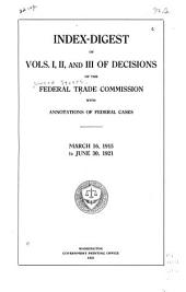 Federal Trade Commission Decisions: Volumes 1-3