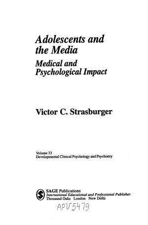 Adolescents and the Media PDF