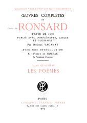 Œuvres complètes de Ronsard: Les poèmes