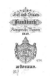 Hof- und Staatshandbuch des Königreichs Bayern: 1852