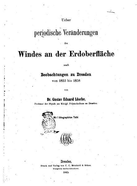 Meteorologische Abhandlungen Von Dr Gustav Eduard Losche