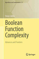 Boolean Function Complexity PDF