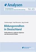 Bildungsrenditen in Deutschland PDF