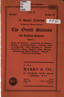 A Special Collection of Interesting Books Relating to the Occult Sciences and Kindred Subjects     PDF