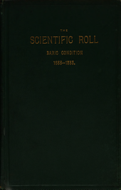 The Scientific Roll and Magazine of Systematized Notes: Climate: Baric Condition, 1688-1883