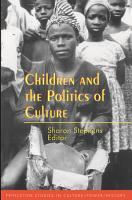 Children and the Politics of Culture PDF
