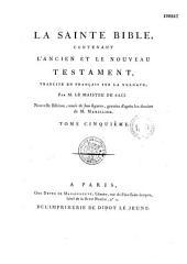 La Sainte Bible, traduction de Sacy, ornée de 300 figurines d'après les dessins de Marillier et Monsion