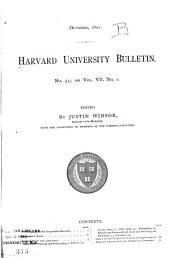 Harvard University Bulletin: Volume 7