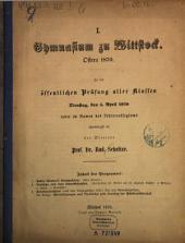 Programm des Königlichen Gymnasiums zu Wittstock: Schuljahr .... 1870