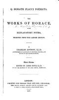 Q  Horatii Flacci Po  mata     Third edition  Edited by J  Boyd PDF