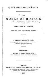 Q. Horatii Flacci Poëmata ... Third edition. Edited by J. Boyd