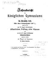 Jahresbericht: über das Schuljahr .... 1873/74