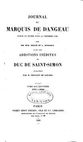 Journal du marquis de Dageneau: 1717-1719
