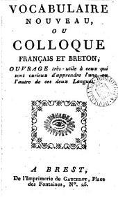 Vocabulaire nouveau, ou Colloque français et breton