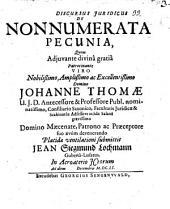 Discursus iuridicus de nonnumerata pecunia