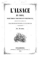 L'Alsace en 1814: dramé en cinq actes